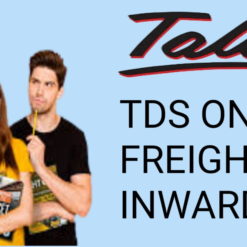 Freight inward and tds on freight